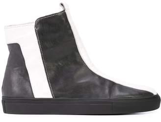 Alberto Fermani striped ankle boots