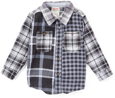 Smiths American Black Plaid Oxford Button-Up - Toddler & Boys