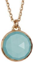 Melinda Maria Round Aqua Onyx Pendant Necklace
