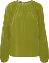 Rochas Gathered silk top