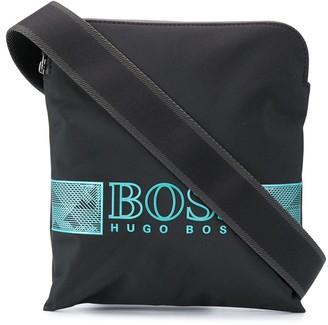 HUGO BOSS Logo-Print Messenger Bag