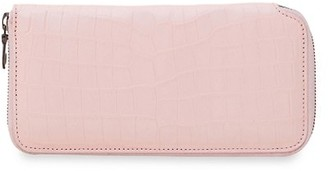 Grace Crocodile Leather Continental Wallet