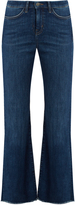MiH Jeans Lou high-rise flared-leg cropped jeans