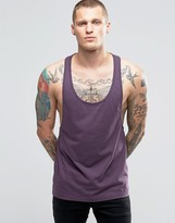 Asos Tank With Extreme Racer Back In Purple