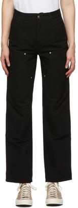 Carhartt Work In Progress Black Double Knee Jeans