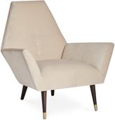 Jonathan Adler Sorrento Chair in Valhalla Ecru Velvet