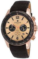 Lancaster Italy OLA1068L-RG-RG-NR Men's Lincoln Chronograph Black Genuine