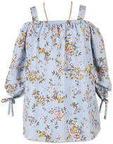 Speechless Off Shoulder 3/4 Sleeve Floral Blouse - Girls' 7-16