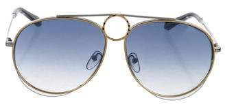 Chloé Metal Aviator Sunglasses