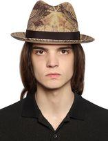 Etro Paisley Printed Straw Hat