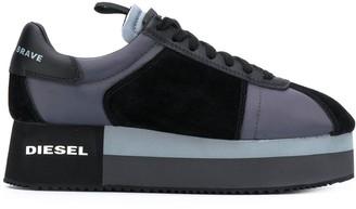 Diesel Panelled Platform Sneakers