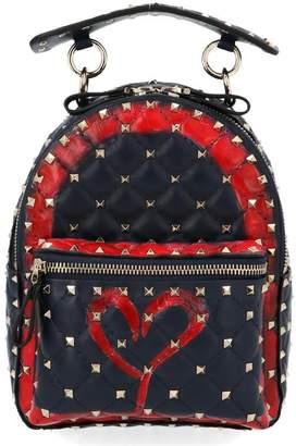 Valentino Garavani Rockstud Spike Heart Backpack