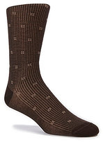 Daniel Cremieux Pindot & Square Dress Socks