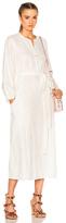 Mara Hoffman Peasant Dress in White.