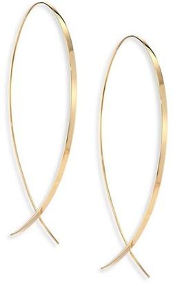 "Lana Upside Down Large 14K Yellow Gold Flat Hoop Earrings/1.25"""