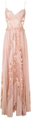 Martha Medeiros Niki pleated long dress