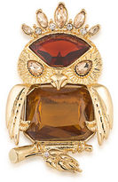Carolee Night at the Museum Goldplated Imperial Owl Pin