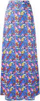 Ultràchic - kite patterned maxi skirt - women - Cotton/Spandex/Elastane - 40