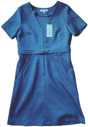 La Petite Francaise Blue Cotton Dress for Women