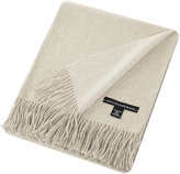 Sofia Cashmere Trentino 2 Ply Fringed Throw - Ivory
