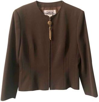 Genny Khaki Wool Skirt for Women Vintage
