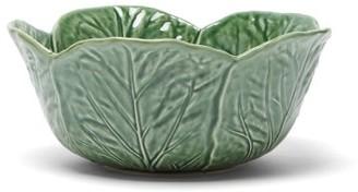 Bordallo Pinheiro Cabbage Earthenware Salad Bowl - Green