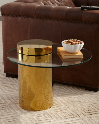 REGINA ANDREW Odette Glass Top Side Table