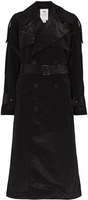 Y-3 crepe de Chine trench coat