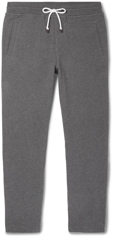 Brunello Cucinelli Slim-Fit Tapered Fleece-Back Stretch-Cotton Jersey Sweatpants