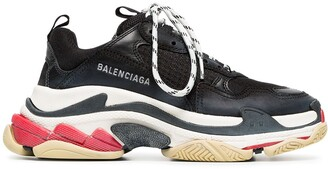 Balenciaga Triple S leather sneakers