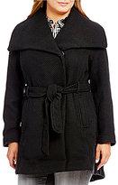 Steve Madden Plus Wool Wrap Walker Coat