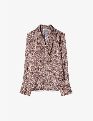 Zadig & Voltaire Tuska ruffle-detail woven shirt