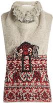 Toga Wool-blend sleeveless tassel-trim top