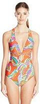 Trina Turk Women's Sea Garden Cross-Back One-Piece Swimsuit