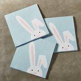 Crate & Barrel Easter Bunny Paper Lunch Napkins Set of 20