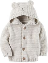 Carter's Baby Boy Hooded Bear Cardigan