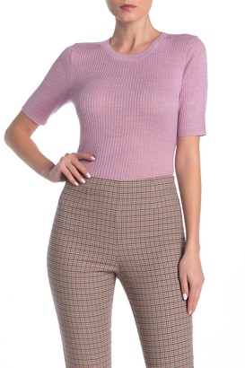 Frame Crew Neck Short Sleeve Sweater
