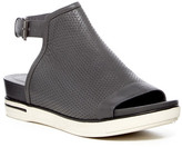 Eileen Fisher Washed Leather Wedge Sandal