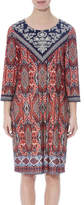 Jump 3/4 Slve Tribal Placement Jersey Dress