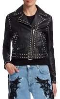 Moschino Studded Leather Jacket