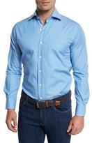 Peter Millar Holiday Striped Sport Shirt, Blue