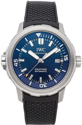 IWC Blue Stainless Steel Aquatimer Expedition Jacques-Yves Cousteau Edition IW3290-05 Men's Wristwatch 42 MM