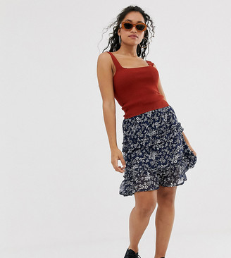 Vero Moda Petite floral smock skirt