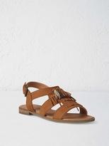 White Stuff Georgia tassel flat sandal