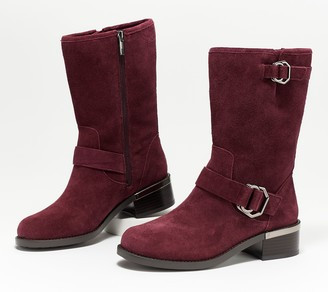 Vince Camuto Leather or Suede Mid Calf Boots- Wadelyn