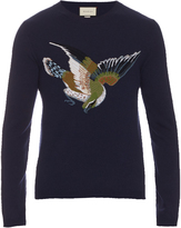 Gucci Bird and number-intarsia wool sweater