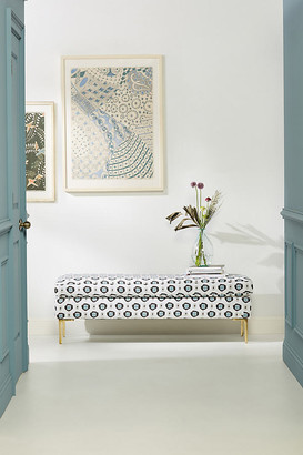 Anthropologie Dotted Edlyn Bench By in Blue Size ALL