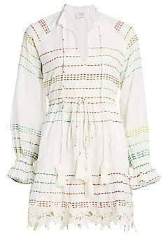 HEMANT AND NANDITA Women's Thea Gauze Mini Dress