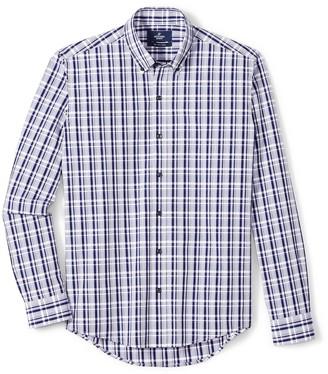 Buttoned Down Men's Slim Fit Supima Cotton Button-Collar Pattern Dress Casual Shirt
