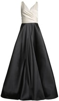Sachin + Babi Cleo Colorblocked Sleeveless Ball Gown